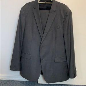 NWOT Banana Republic grey wool suit